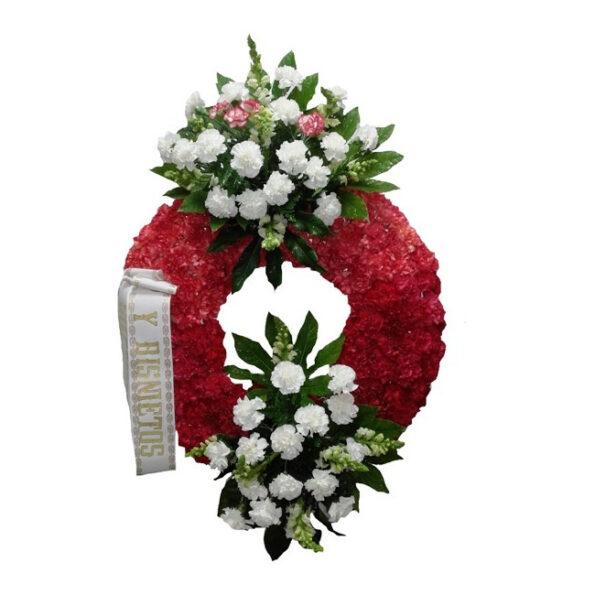 Corona de flores dos cabeceros