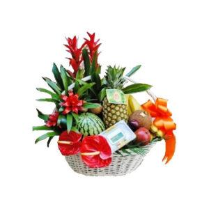 Cesta de Flores y plantas