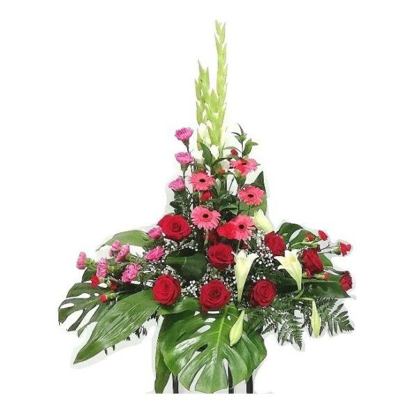 Centro floral vertical
