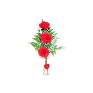 3 Rosas Rojas con entrega en el día en Segovia
