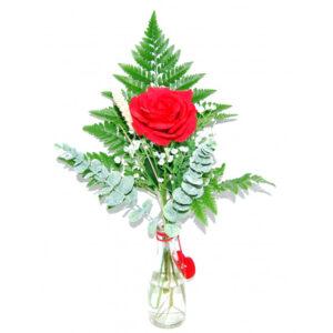 1 Rosa Roja con entrega en el día en Segovia