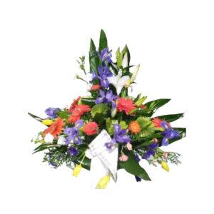 Centro floral funerario