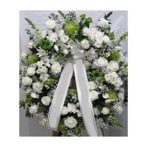 Corona de flores pureza